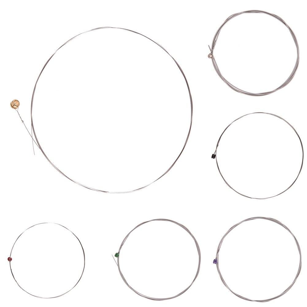 Гексагональной углерода Сталь гитарные струны 1-6 серии 009 к 042 дюймов Универсальный один гитарной струны для электрических Аксессуары для г...