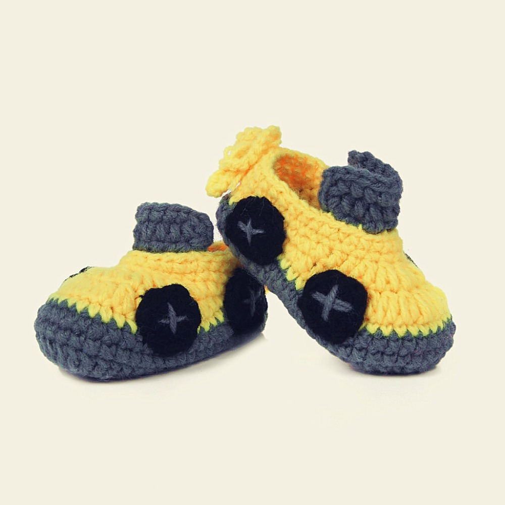 Cute Car design Handmade Knit baby knitting Woolen Sock Shoes baby photography props 5BS44