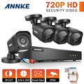ANNKE 8CH 1080P HDMI CCTV Security System DVR and (4) 720P 1200TVL IR Outdoor Weatherproof CCTV Video Surveillance Cameras