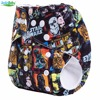 2015 New Pattern 1pcs Washable Reusable Baby Cloth Nappies Wholesale With Microfiber Inserts For Boys And
