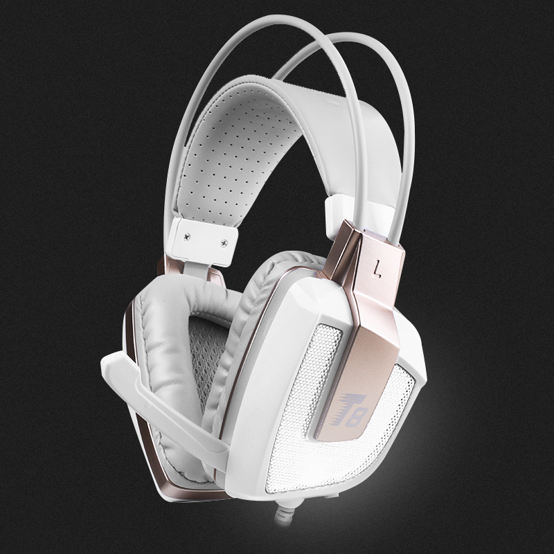 Salar T8 Professional Gaming Headphone <font><b>Vibration</b></font> Function Headset with Mic Stereo Bass Earphone LED Light for PC Laptop for Xbox