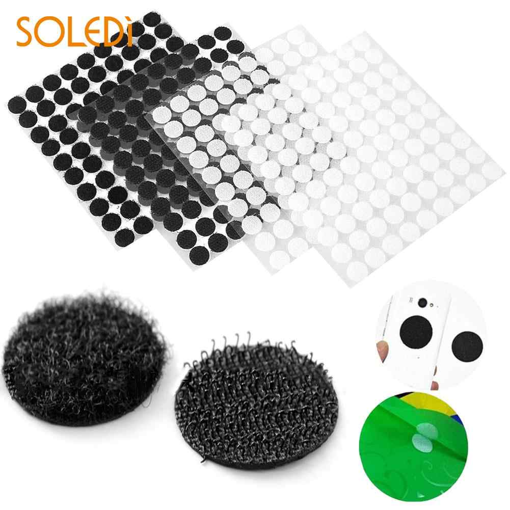 99Pairs/lot  Self-adhesive Double-sided Hair Sticker Nyloy Table Chair feet Protection Pad Magic Stickers Hooks Loo Eco-Friendly