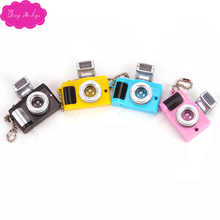 Doll accessories Key chain creative Camera 3 colors Led with Sound LED flashlight funny toy camera gift for child q7 цена