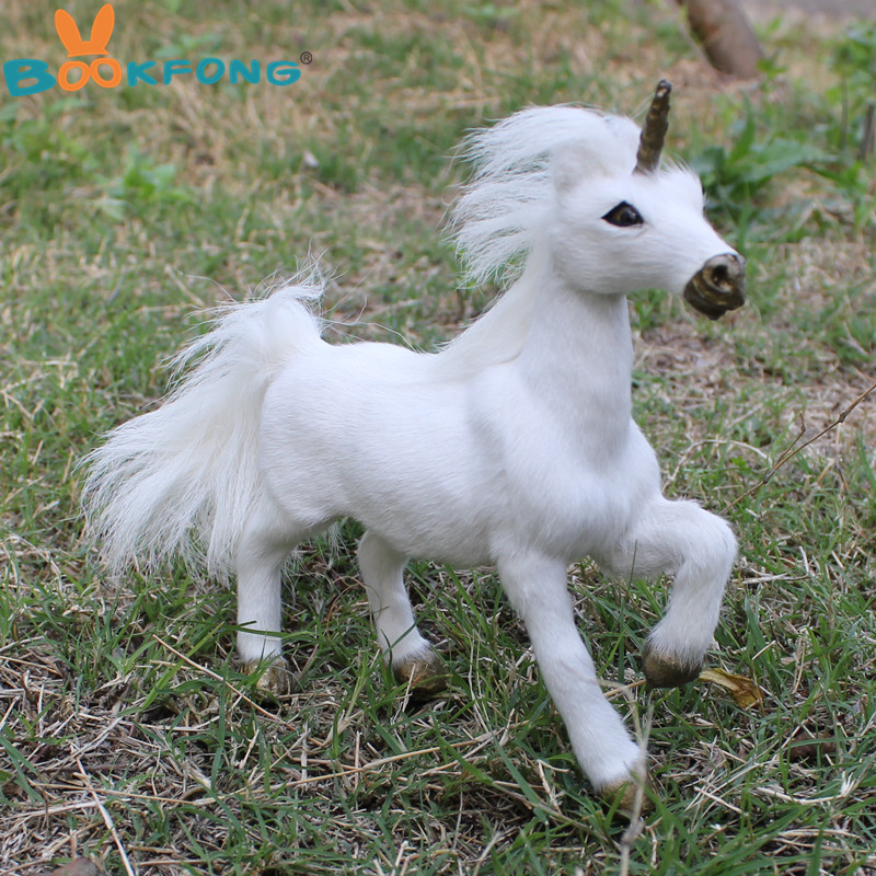 Artificial animal model white unicorn toy fur polyethylene lovely horse toy home furnishing gift for kids christmas gift 18*16cm early english manuscripts in facsimile vol 7