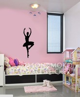 Ballet Dancer Kids Room Sticker Children S Room Or Baby Nursery Vinyl Sticker Mural Wallpaper 50