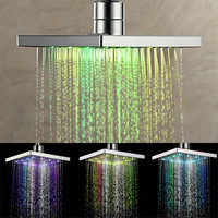 New 1pc Home Bathroom Faucet extender 7 Colors Changing LED Shower Faucet Water Glow Light Bathroom Shower Faucet 39