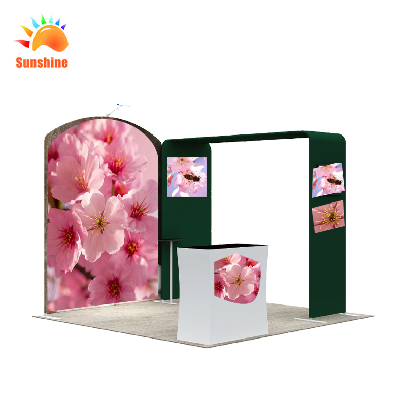 Aluminium exhibition booths backdrop for trade show display with custom printing