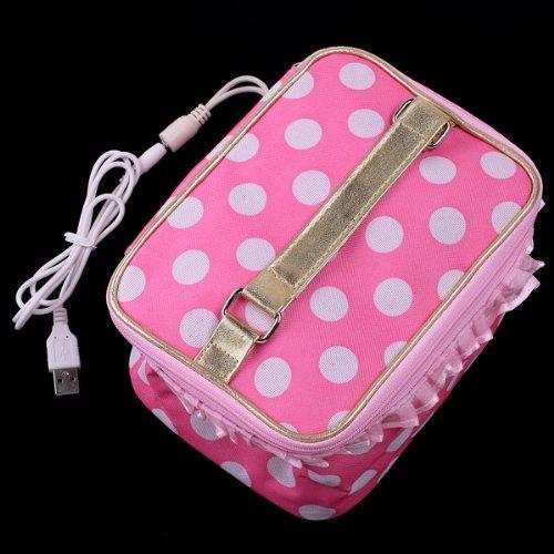Atacado 5 * Pink Lancheira Bento Aquecedor USB Saco Mais Quente
