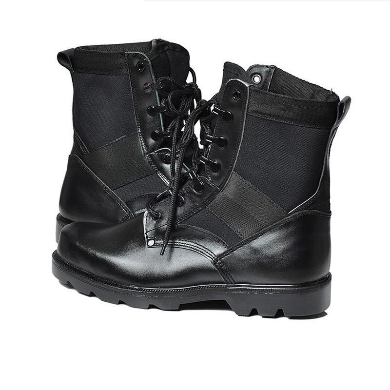 Cómodo Hombre Para Aa10272 Lace Caliente Moda Invierno Calzado Tobillo Negro Cuero Hombres Tácticas Del Botas Split Up Militares 08U1OO