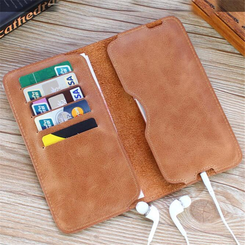 Vintage Genuine Leather Wallet Man Long Wallets Simple Soft Phone Wallet billeteras No Zipper Card Purse Portafogli Uomo new arrival 2017 wallet long vintage man wallets soft leather purse clutch designer card holders business handbags clips