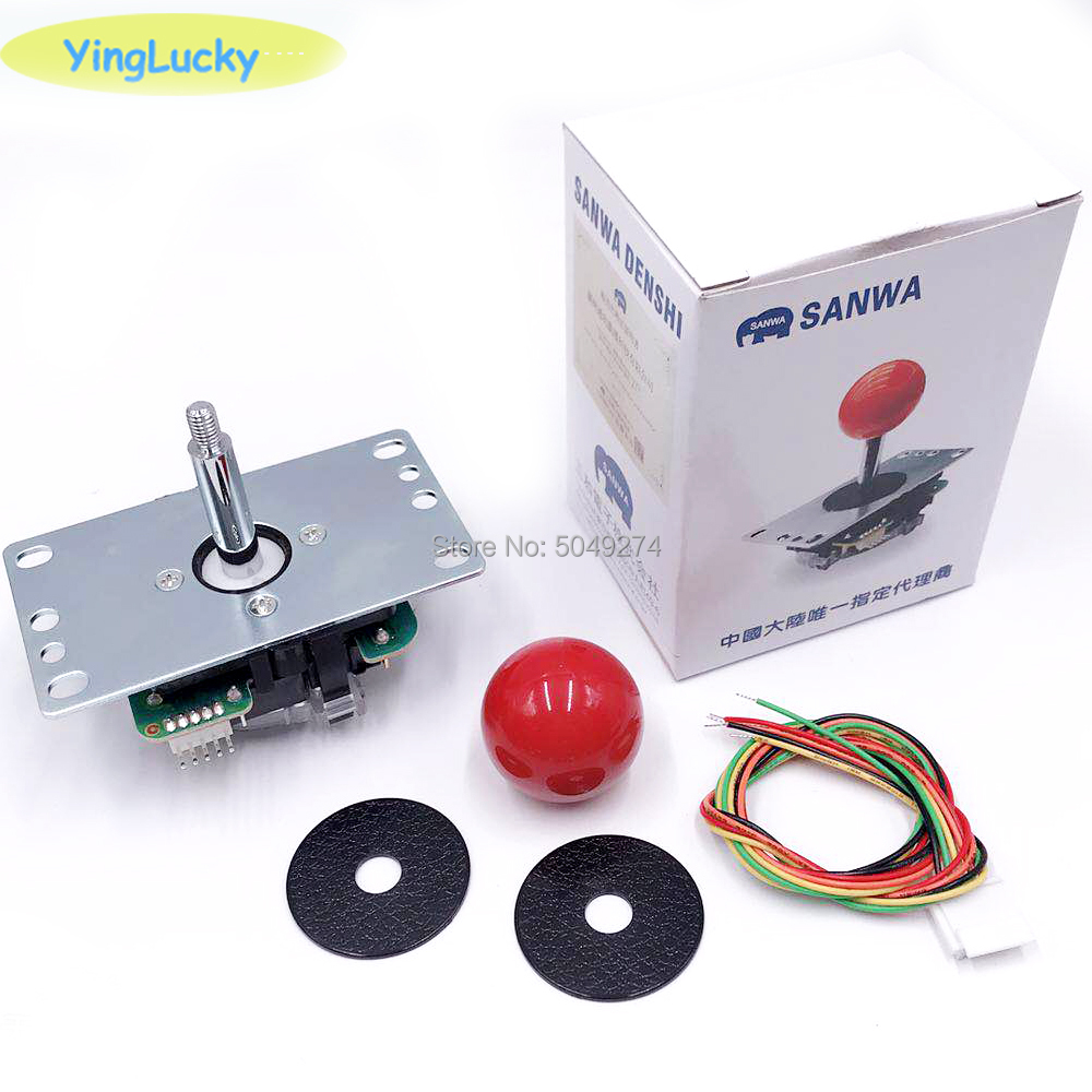 Sanwa Joystick Original Japan JLF-TP-8YT Fighting Rocker With Topball And 5pin Wire For Jamma Arcade Game