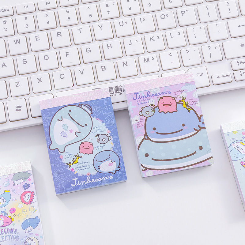 Cartoon Lovely Whale Doll Note Book Originality Six Colors 100 Sheets Guestbook Small Kawaii Pocket Notebook Memo Pad Stationery Notebooks & Writing Pads
