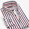 2017 New Fashion Designer Contrast Multi Striped Casual Men Shirts Slim Fit Comfort Soft Button Down