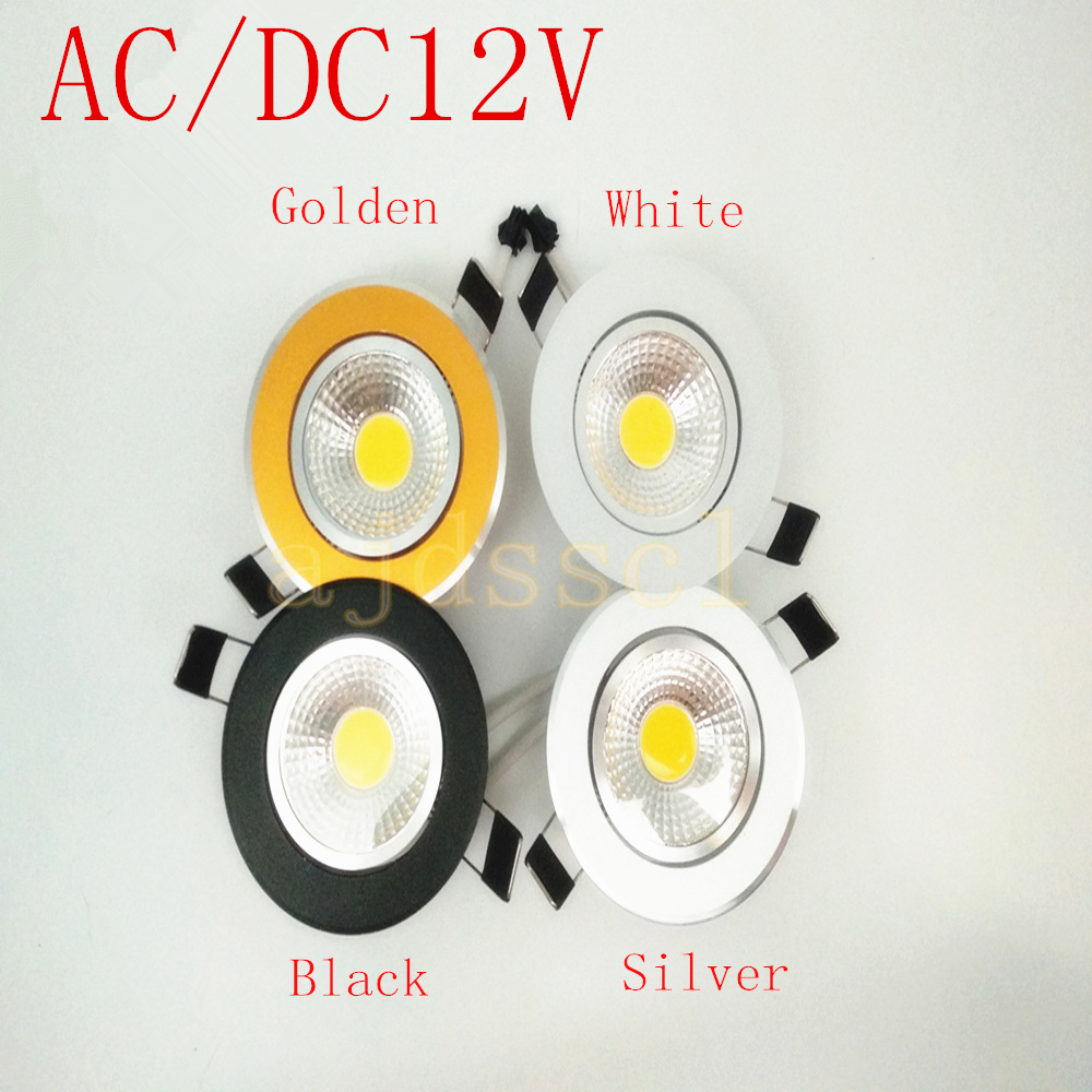 1pcs Super Bright Dimmable <font><b>Led</b></font> downlight light COB AC/DC12V Ceiling <font><b>Spot</b></font> Light 3w <font><b>5w</b></font> 7w 12w recessed Lights Indoor Lighting image