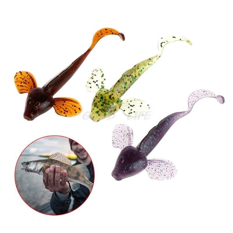 6 Pcs/Set Fishing Bait Soft Fish Artificial Fly Fishing Jigging Swim Bait 8cm4.6g Wobblers Crank Bait Tackle Accessories