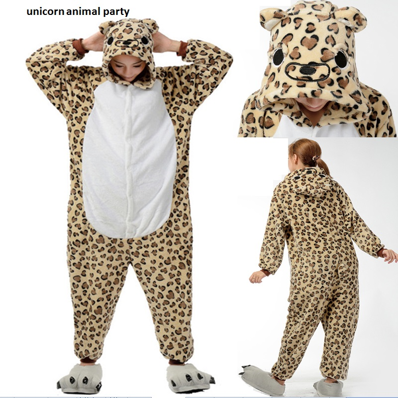 Kigurums Állati pizsamák férfiak és nők Pizsamák Leopárd medve - Jelmezek