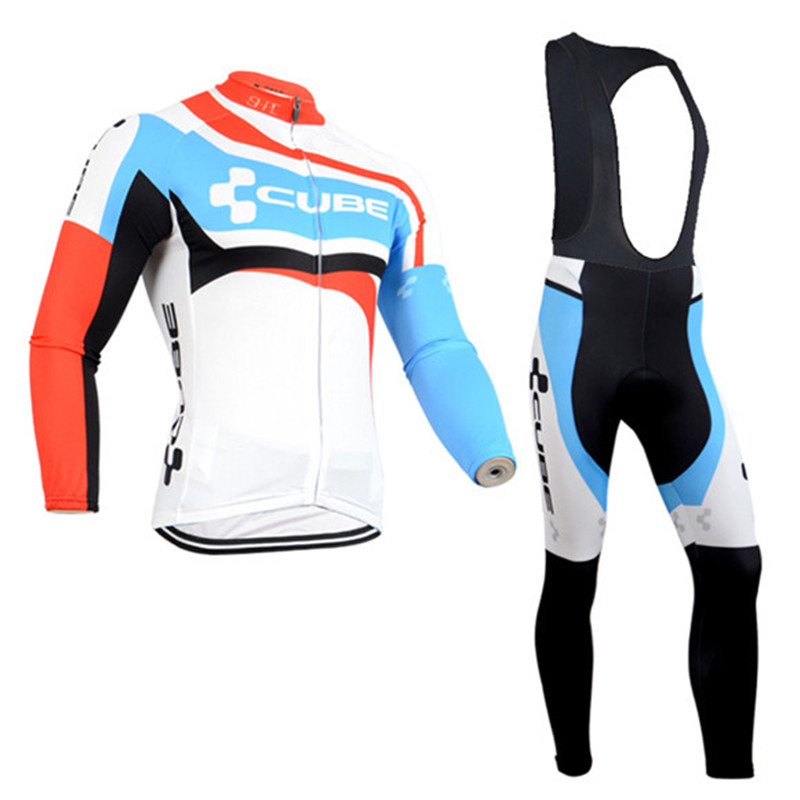 New CUBE Ciclismo Winter Thermal Fleece Cycling Clothing Long Sleeves Ropa Ciclismo Popular Cycling Jersey Mtb black thermal fleece cycling clothing winter fleece long adequate quality cycling jersey bicycle clothing cc5081