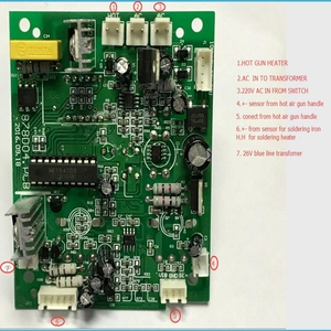 Image 3 - 878D 2 in 1 SMD Hot Air And Soldering Station 220v BGA Rework Station Circuit PCB Temperature Control Board