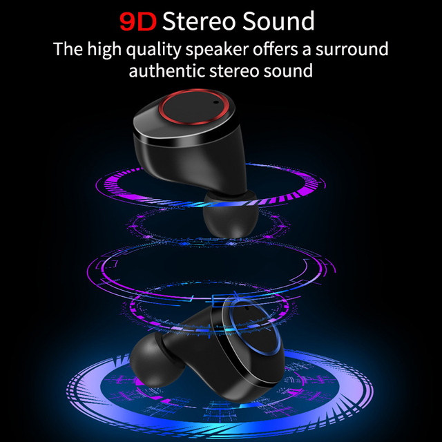 QCR TWS Earphone Bluetooth 5.0 Power Display Touch Control 1