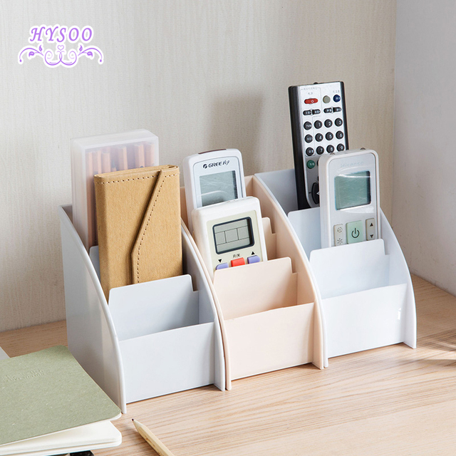 Desktop Coffee Table Remote Control Storage Box Desk Small Stationery Shelves Cosmetics