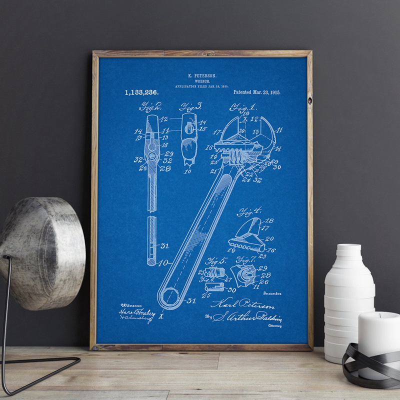 Wrench Wall Art Print