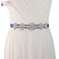 Bohemian Wedding Belts For Wedding Crystal Ribbons Belt For Bride 12 colors Bridal Belts sash Wedding accoriess S399