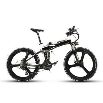 Lankeleisi XT750 Foldable Folding E-Bike Electric Bike Full Suspenion Fork 17 *26 inch  27 Speeds 250 Watt 36V 12.8A електрическо колело