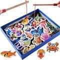 32 шт. Детские Деревянные магнитные игрушки рыбы Игрушки обучающие головоломки игрушки для детей детей Игрушки Головоломки Подарок На День Рождения CU32