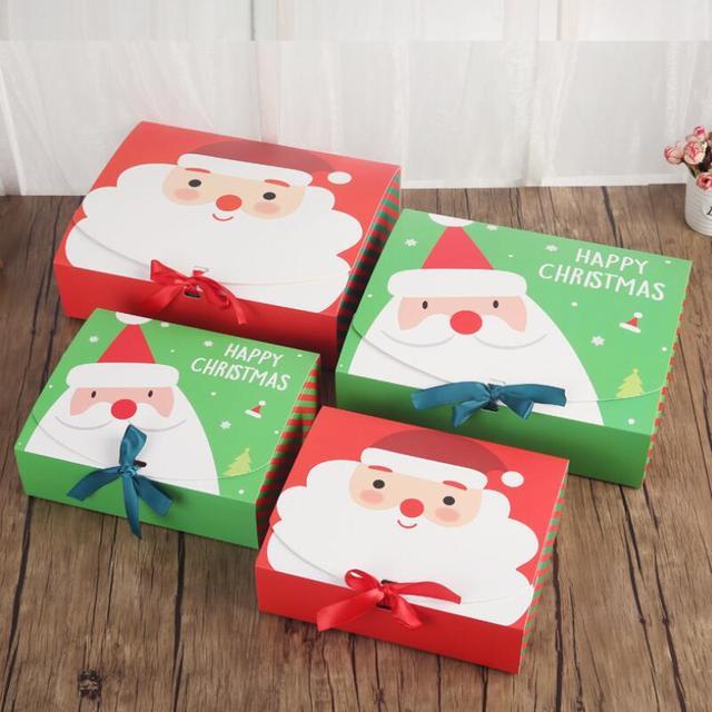 4pcs christmas gift box diy handmade large box santa claus merry christmas children gifts boxs 24 - Large Christmas Gift Boxes