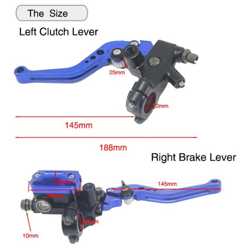 "2pcs Universal Motorcycle 7/8"" 22mm Brake Clutch Master Cylinder Lever Set Reservoir Motorcycle Brake Handle Accessory"