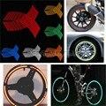 16 tiras de cinta raya del borde de la rueda pegatina reflectante motocicleta de la bici del coche 16 17 18 pulgadas de plata rojo azul verde amarillo orange