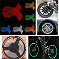 16 tiras roda etiqueta reflexiva rim stripe tape bicicleta da motocicleta do carro 16 17 18 polegada de prata vermelho azul verde amarelo orange