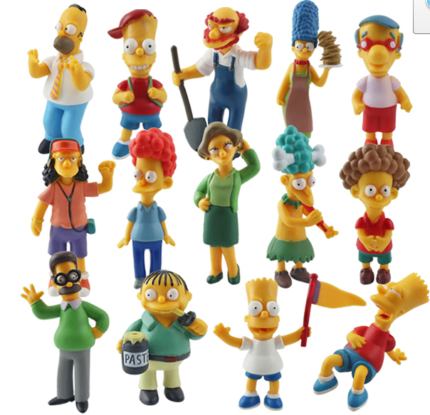 homar Bart family PVC mini dolls figures hand-done figma 14pcs/set кпб искушение розовый р сем