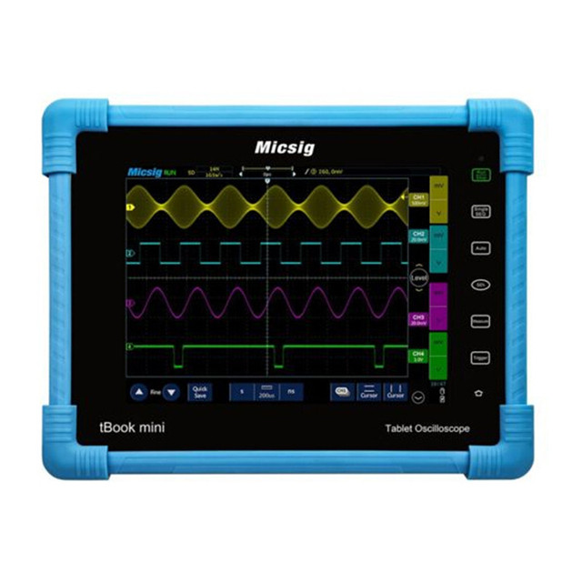 Flash Promo Micsig 2017 Digital Tablet Oscilloscope 150MHz 2CH 1G Sa/s real time sampling rate automotive Oscilloscopes kit new come TO1152