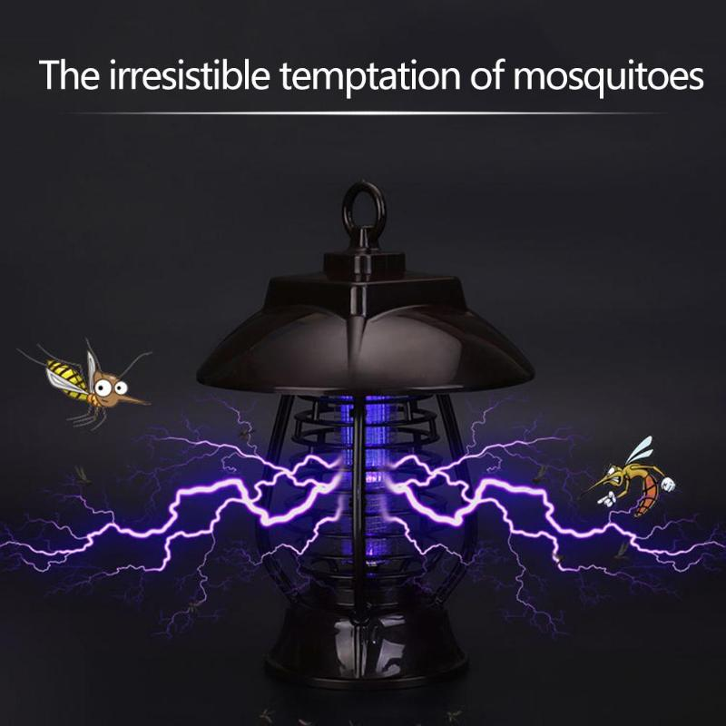 Outdoor Solar Panel LED Mosquito Killer Light IP64 Waterproof Lamp Insect Killer Mosquito Killer Lamp Night Lamp chic high waist hit color sport pants for women