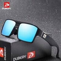 DUBERY Polarisées lunettes de Soleil Hommes Rétro Mâle Lunettes Colorées Lunettes de Soleil Pour Hommes De Mode de Marque De Luxe Miroir Nuances Cool Oculos