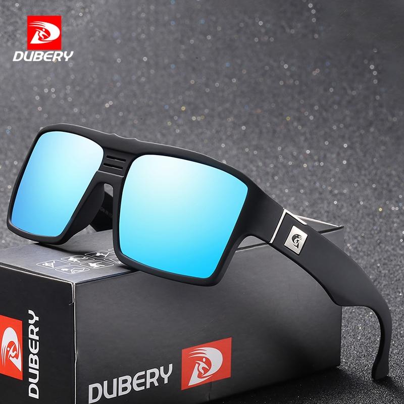 Image DUBERY Polarized Sunglasses Men s Retro Male Goggle Colorful Sun Glasses For Men Fashion Brand Luxury Mirror Shades Cool Oculos