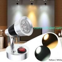 12V 3W Caravan Bedside Wall Light Lamp Interior Bar LED Cupboard Wardrobe Closet Light On Off