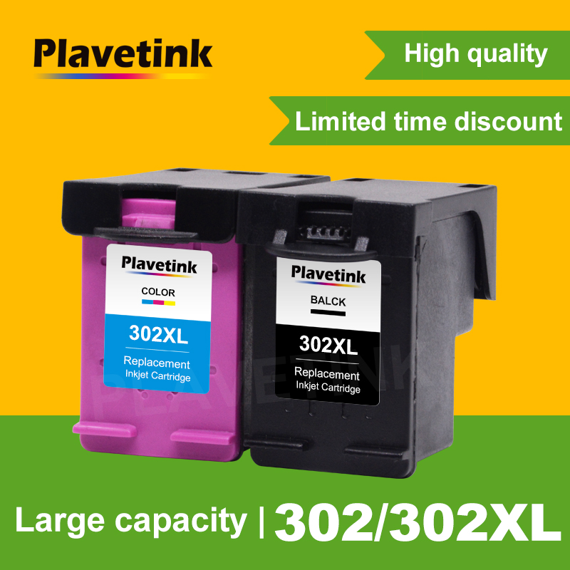 Plavetink For <font><b>HP</b></font> 302 302XL Refilled Compatible Ink cartridge replacement For Deskjet 1111 1112 2130 2135 1110 <font><b>3630</b></font> 3632 Printer image