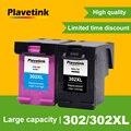 Plavetink cartucho para impressora hp, substituição de cartucho de tinta compatível com hp 302 302xl 1111 1112 2130 2135, impressora deskjet 1110 3630 3632