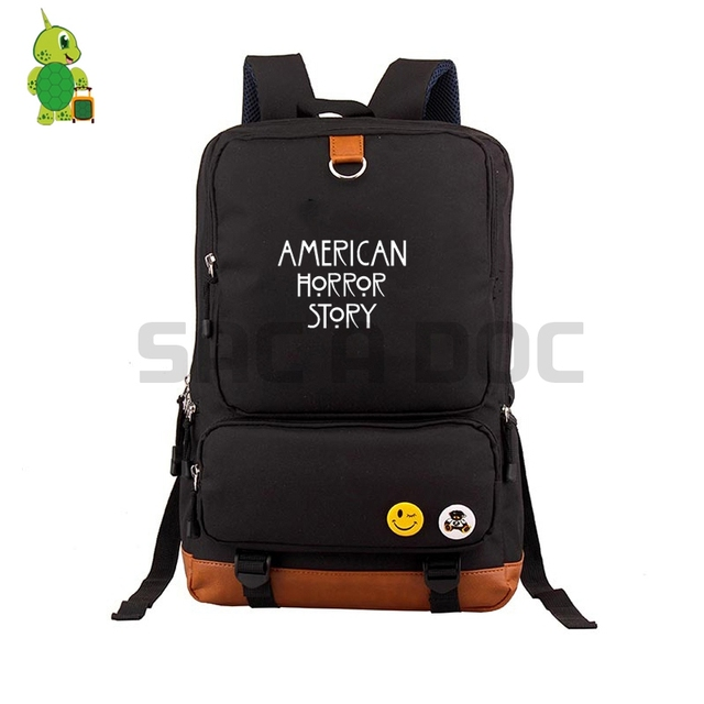 98f1b5f55a23 American Horror Story Evan Peters Backpacks School Bag for Teenagers  Students Canvas Laptop Backpack Women Men