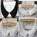 Vintage de encaje negro con cuentas collar falso collar collar de gargantilla collar de la mujer accesorios ropa dulce collar falso