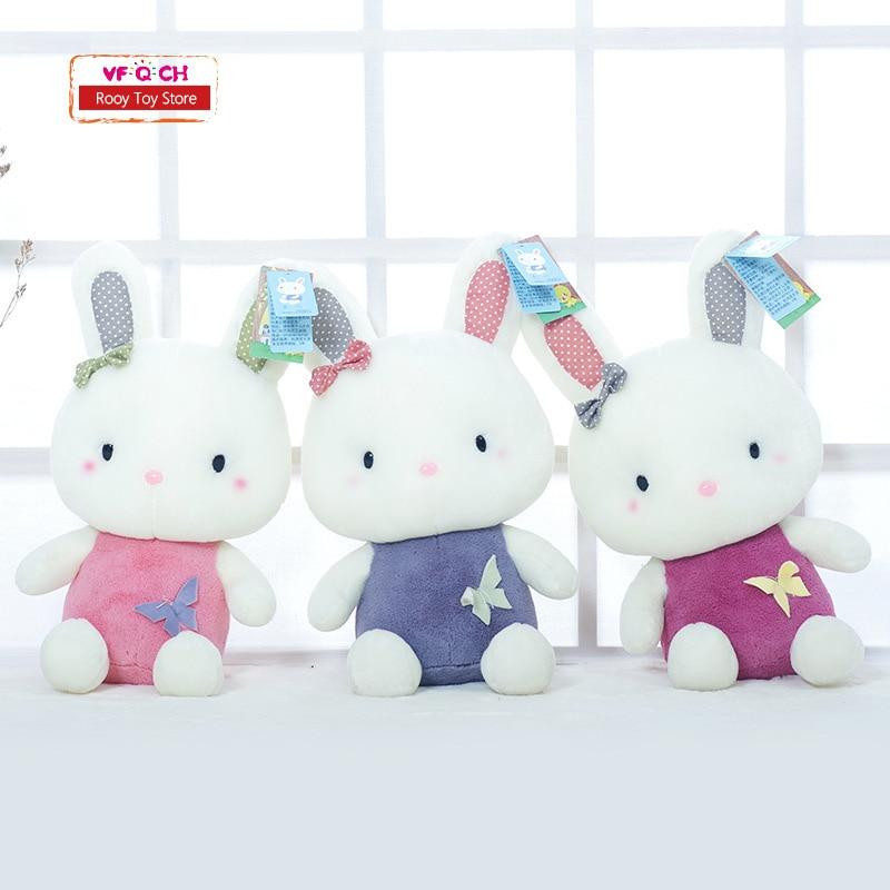 Soft Classic Plush Rabbit Dolls Stuffed Toys Kawaii Animals Bunny For Children kids birthday Christmas Wedding Gigt hot sale cute dolls 60cm oblong animals pillow panda stuffed nanoparticle elephant plush toys rabbit cushion birthday gift