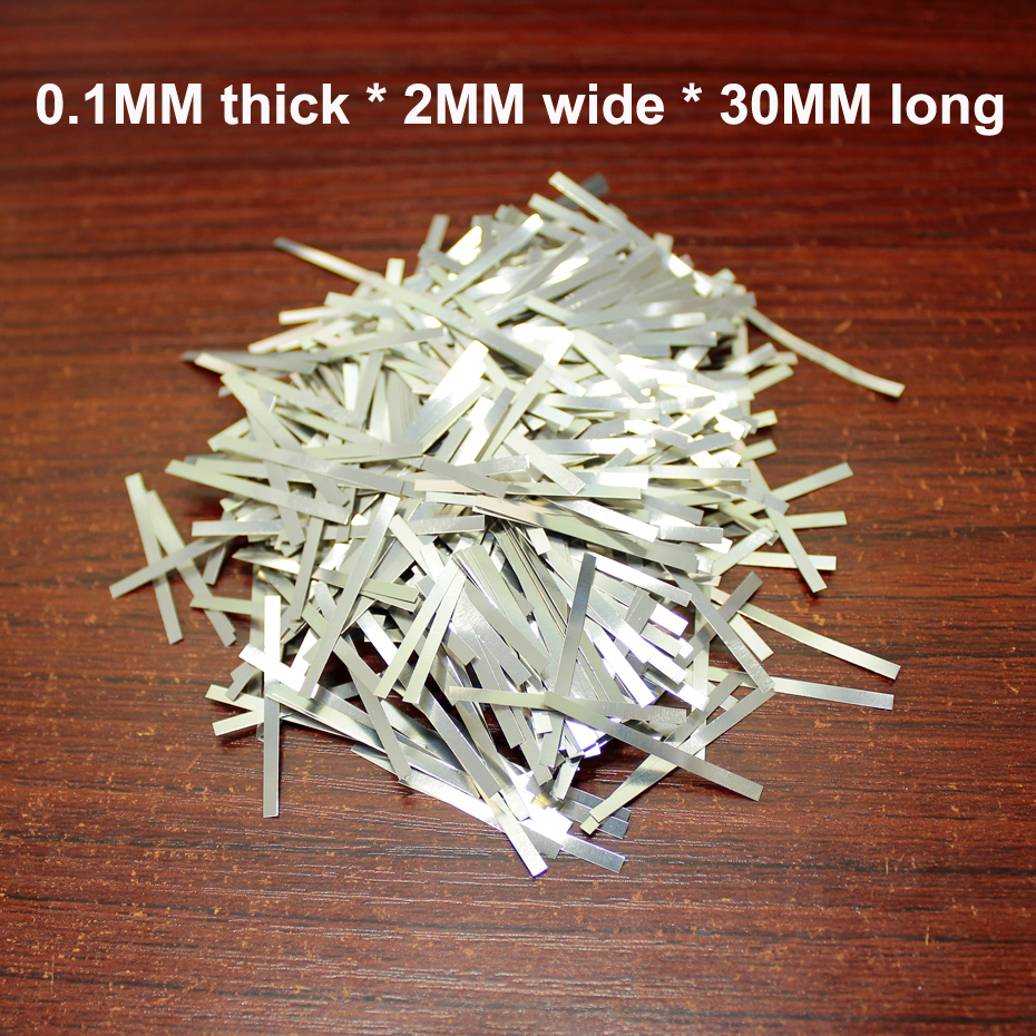 100g/bag Lithium Battery Nickel Plated Steel Strip Battery Connection Piece Spot Welded Nickel Sheet Stainless Steel SPCC