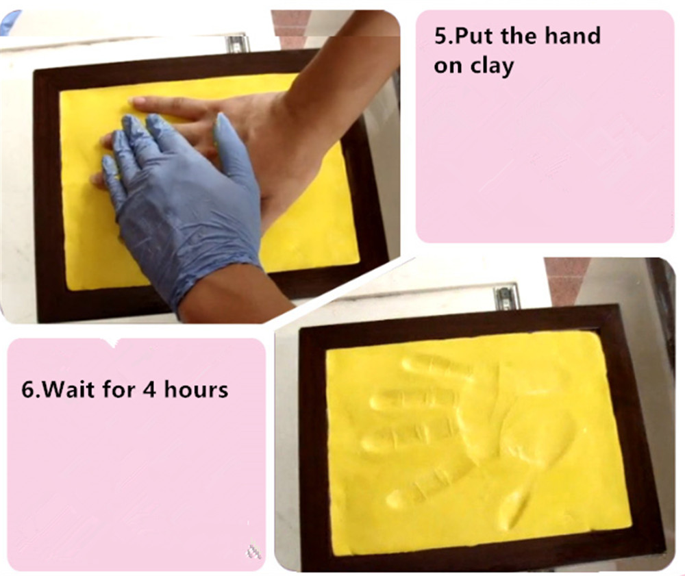 Infant Baby Kinder Handabdruck Footprint Weiß Vertraglich Hängen ...