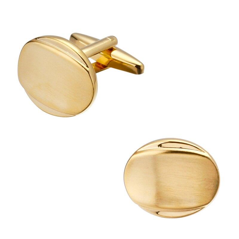 Модные мужские рубашки манжеты золотые запонки круглые гладкие кнопки запонки оптом и в розницу