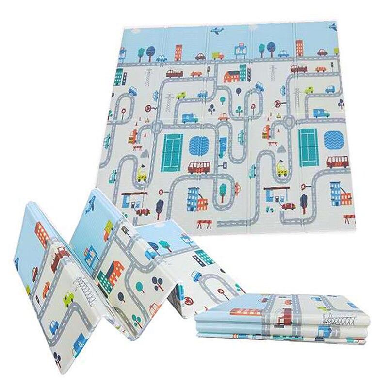 Tapis rampant pliant 1.8*2.0M tapis de ramper de bébé de bande dessinée tapis de jeu pour enfants tapis de sol de maison pour les enfants jouent des jouets pour enfants de sécurité 521