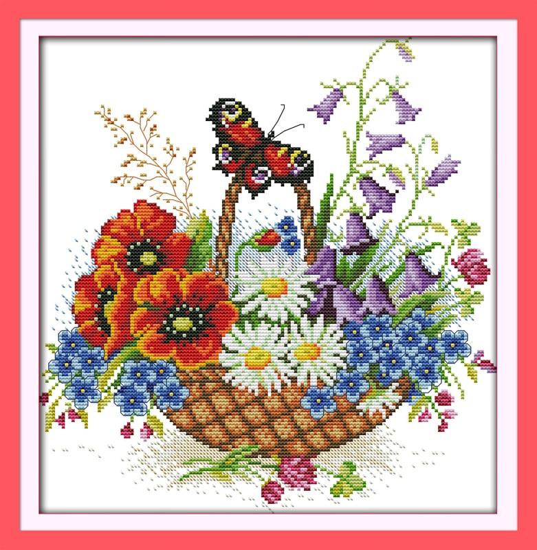 Flower cross stitch promotion shop for promotional