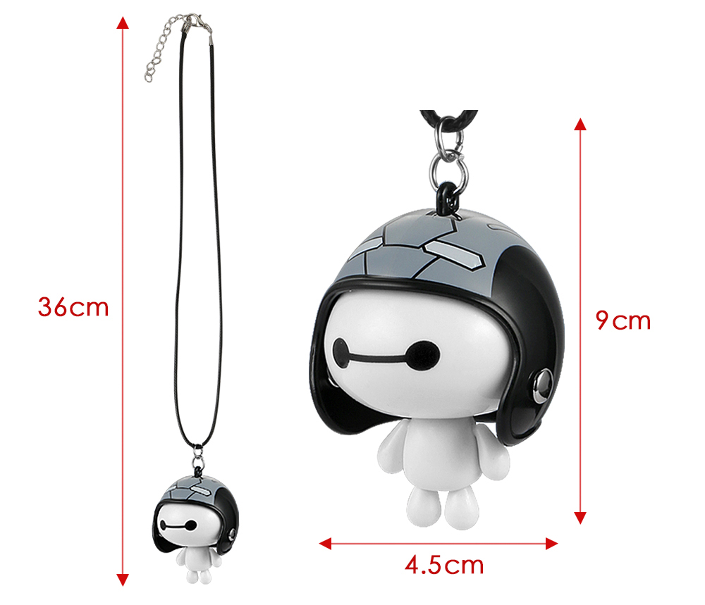 HTB1vQ.ua7SWBuNjSszdq6zeSpXa9 Car Pendant Cute Helmet Baymax Robot Doll Hanging Ornaments Automobiles Rearview Mirror Suspension Decoration Accessories Gifts