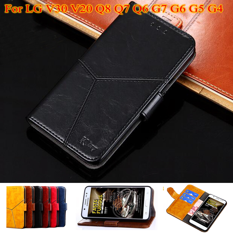 YeLun Luxury Flip Leather Wallet Soft TPU Silicone <font><b>Case</b></font> For <font><b>LG</b></font> V30 V20 Q8 Q7 Q6 G7 G6 G5 G4 F800 F700 G4S <font><b>G4C</b></font> G6 V20 mini Cover image